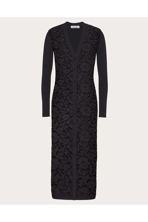 VALENTINO Women Cardigans - Stretch Viscose And Heavy Lace Cardigan Women Polyester 17%, Viscose 83% M