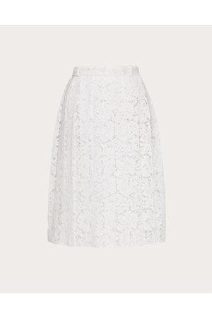 VALENTINO Women Pleated Skirts - Heavy Lace Skirt Women Cotton 34%, Viscose 43% 38