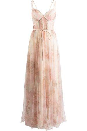Marchesa Notte Women Printed Dresses - Florence floral-print dress