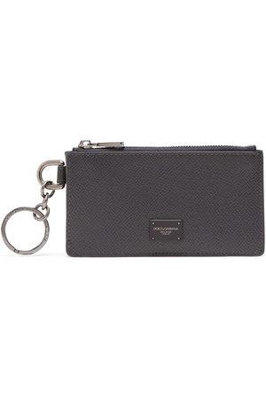 Dolce & Gabbana Men Wallets - Logo plaque zipped cardholder - Grey