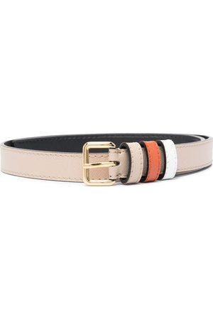 Marni Buckle-fastening leather belt - Neutrals