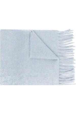 Marni Logo-patch fringed scarf