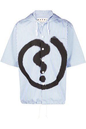Marni Graffiti paint striped shirt