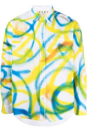 Marni Men Shirts - Abstract-print shirt
