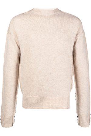 Marni Striped patchwork knitted jumper - Neutrals