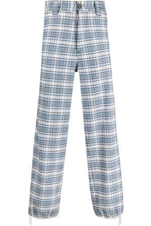 Marni Men Wide Leg - Check-pattern wide-leg jeans