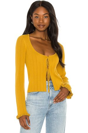 House of Harlow X Sofia Richie Bree Sweater in Mustard.