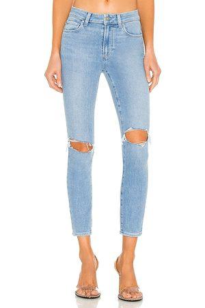 Paige Hoxton Crop Jean in Blue.