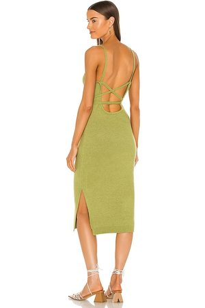 LINE & DOT Megan Wrap Dress in Green.