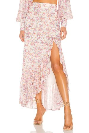 Yumi Kim Kimmie Skirt in Ivory,Pink.