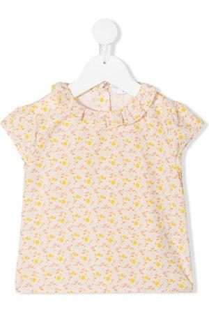 KNOT Baby Blouses - Flower Power short-sleeved blouse - Neutrals