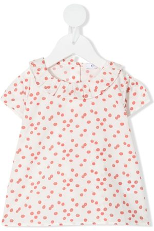 KNOT Girls Blouses - Cherry tomato-print blouse