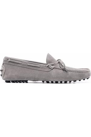 Scarosso James bow-embellished loafers - Grey