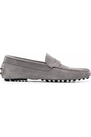 Scarosso Men Loafers - Michael suede loafers - Grey