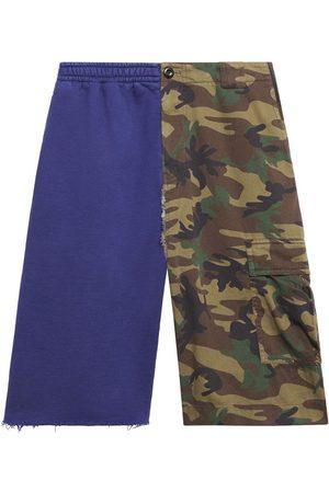 Balenciaga Men Shorts - Two-tone cargo shorts