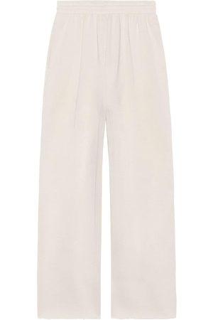 Balenciaga Cropped cotton track pants - Grey