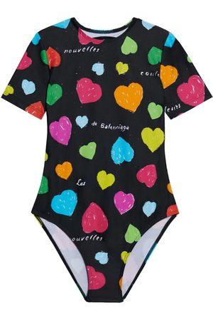 Balenciaga Women Swimsuits - Heart-print open-back swimsuit