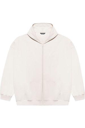 Balenciaga Hoodies - Zip-up cotton hoodie - Grey