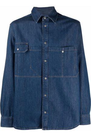 Diesel Men Denim - Pointed-collar buttoned denim shirt