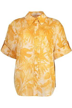 ZIMMERMANN Amber Palm Mae Cuffed Shirt