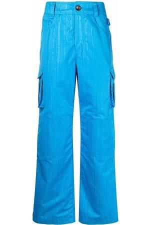 Marine Serre Men Cargo Pants - Survival straight-leg cargo trousers