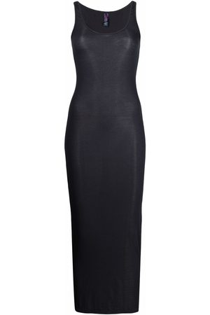 MAISON CLOSE Ribbed fitted maxi dress - Grey