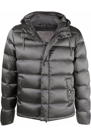 HERNO Padded zip-front jacket - Grey