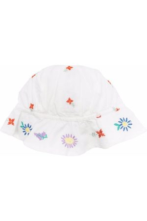 Stella McCartney Hats - Floral-embroidered sun hat