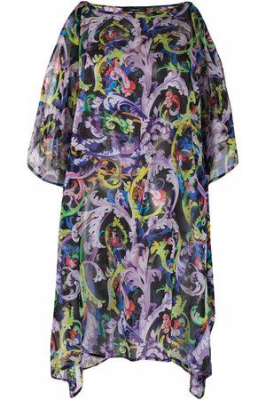 Versace Baroccoflage-print silk beach dress