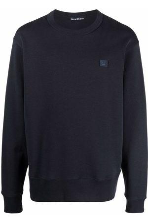 Acne Studios Sweatshirts - Face patch crew-neck sweatshirt