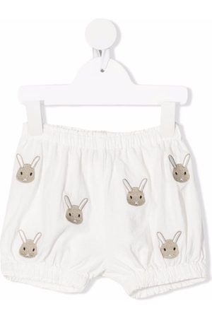 Donsje Shorts - Rabbit motif-embroidered shorts