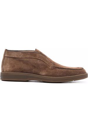 santoni Suede slip-on loafers