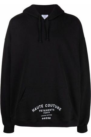 Vetements Logo-print oversized hoodie