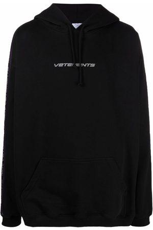 Vetements Logo stripe hoodie