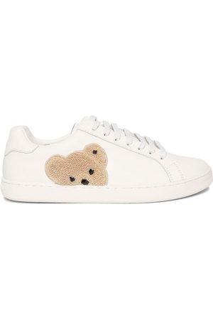 Palm Angels Women Sneakers - New Teddy Bear Low-top Tennis Sneaker, White Brow