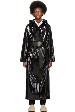 Kassl Editions Black Long Lacquer Coat