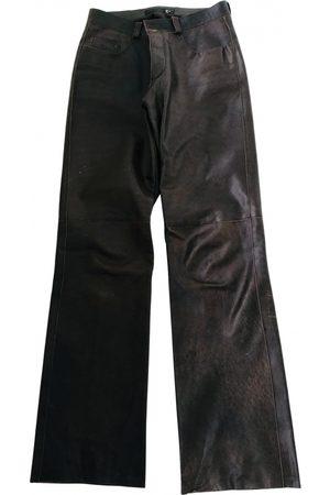 Roberto Cavalli Leather Trousers