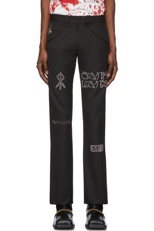 SANKUANZ Wool Graffiti Trousers