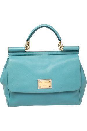 Dolce & Gabbana Leather Large Miss Sicily Top Handle Bag