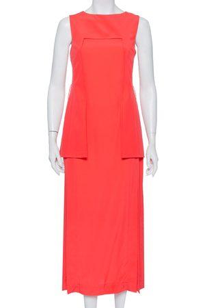 Fendi Women Maxi Dresses - Silk Overlay & Slit Detail Sleeveless Maxi Dress M