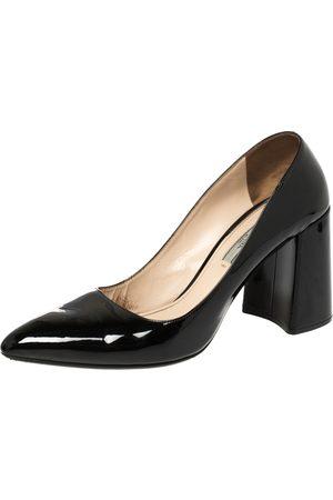 Prada Patent Leather Block Heel Pumps Size 39