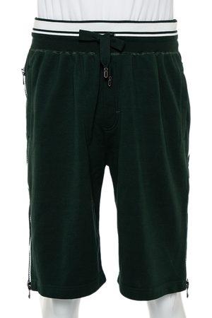 Dolce & Gabbana Cotton Knit Side Zipper Detail Bermuda Shorts M