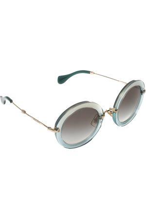 Miu Miu Women Round - /Gold Acetate Delice SMU 13N Round Sunglasses