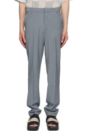 Maison Kitsuné Grey Large Tailored Trousers