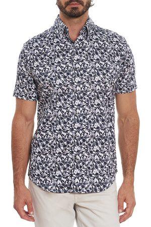 Robert Graham Men's Leyburn Skull-Print Short-Sleeve Shirt - - Size Medium