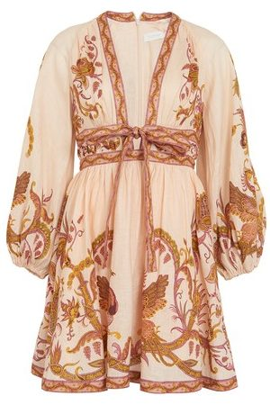 ZIMMERMANN Women Party Dresses - Cassia bow mini dress