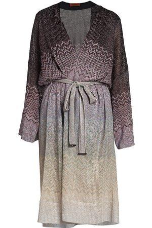 Missoni Women's Chevron Long Cardigan - Metallic Grey - Size Medium