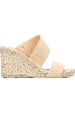Vince Women's Garlin Suede Espadrille Wedge Sandals - Cappuccino - Size 8