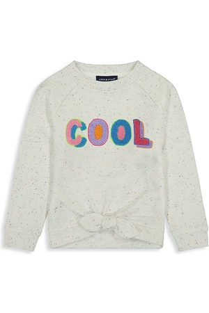 Andy & Evan Little Girl's Tie Front 'Cool' French Terry Sweatshirt - - Size 4