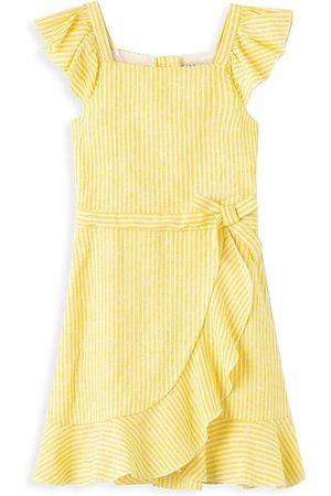 HABITUAL Little Girl's Ruffle Flounce Stripe Dress - - Size 6